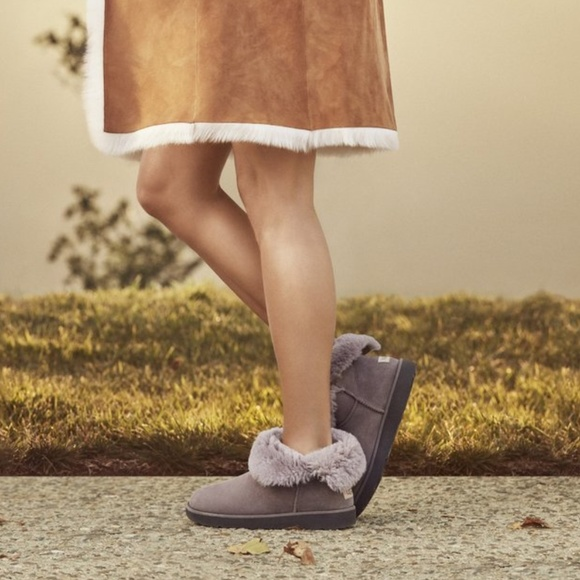 bf6bba3c3f4 New UGG Classic Cuff Mini Boots Stormy Grey NWT